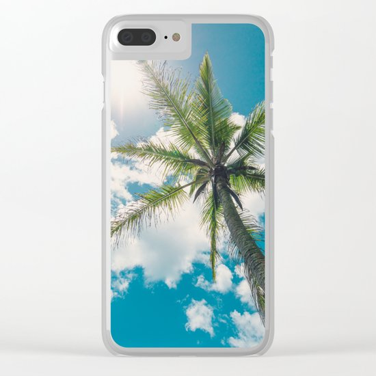 Best Summer Ever - Tropical Palm Trees Clear iPhone Case