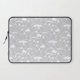 Mountain Scene in Grey Laptop Sleeve