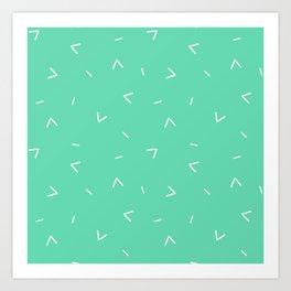 Summer Breeze (green) Art Print