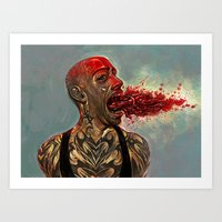 PUNK MONSTER Art Print