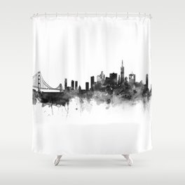 San Francisco Black and White Shower Curtain