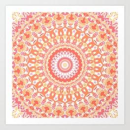 Citrus Mandala Art Print
