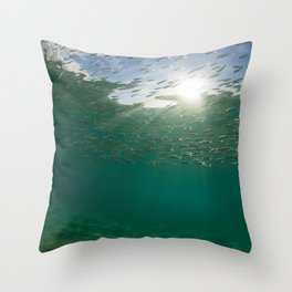 Sardine School Throw Pillow