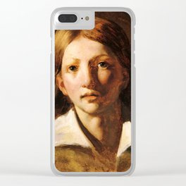 """Théodore Géricault """"Young blond man"""" Clear iPhone Case"""