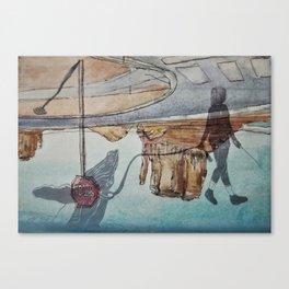 Desert whale Canvas Print