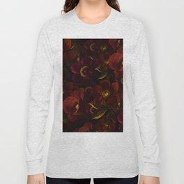 Mystical Night Rose & Poppy Garden Long Sleeve T-shirt