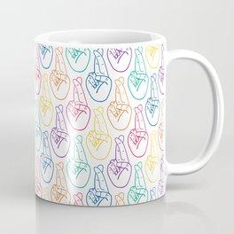 Fingers Crossed - Rainbow Coffee Mug