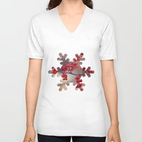 sparkles V-neck T-shirts featuring Berry Sparkles by BACK to THE ROOTS