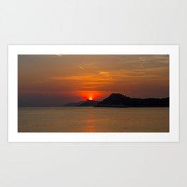 Croatian Sunset Art Print