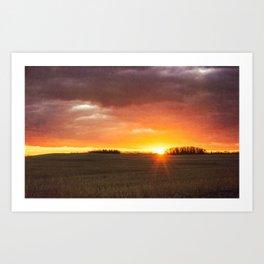 Alberta Sunset Art Print