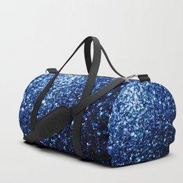 Beautiful Dark Blue glitter sparkles Duffle Bag