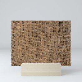 Burlap Grid Mini Art Print