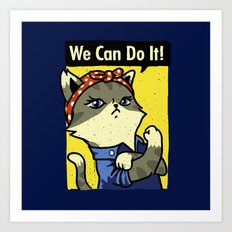 Purrsist! We Can Do It! Art Print