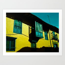 THE BALCONY IN CANDELARIA Art Print