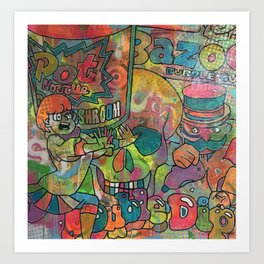 start me up by Barrie J Davies 2015 Art Print