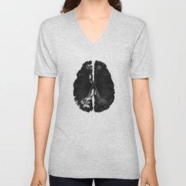 Inkblot Brain Unisex V-Neck