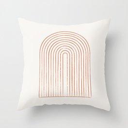 Arch Dusty Orange Throw Pillow