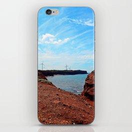 Cliffside Wind Turbines iPhone Skin