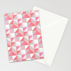 Peach Geometric; Stationery Cards