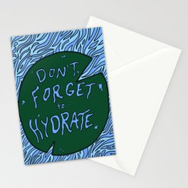 Don't Forget to Hydrate Stationery Cards