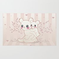 kawaii Area & Throw Rugs featuring Kawaii by Lily Art