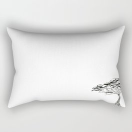 Whistling Thorn , Zen Bonsai African Tree Rectangular Pillow