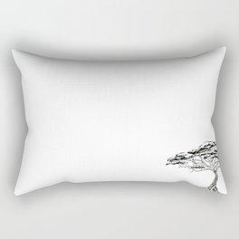 Whistling Thorn , Zen Bonsai African Tree Rectangular Pillow