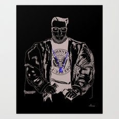 Lord WTF from Madrid is in da hause Art Print