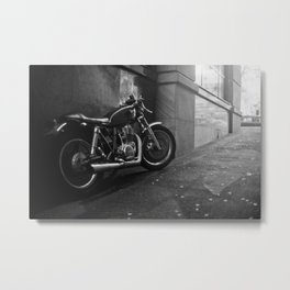Back Street Brawler Metal Print