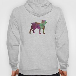 Appenzell Cattle Dog in watercolor Hoody