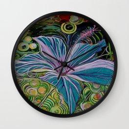 Hibiscus Wall Clock