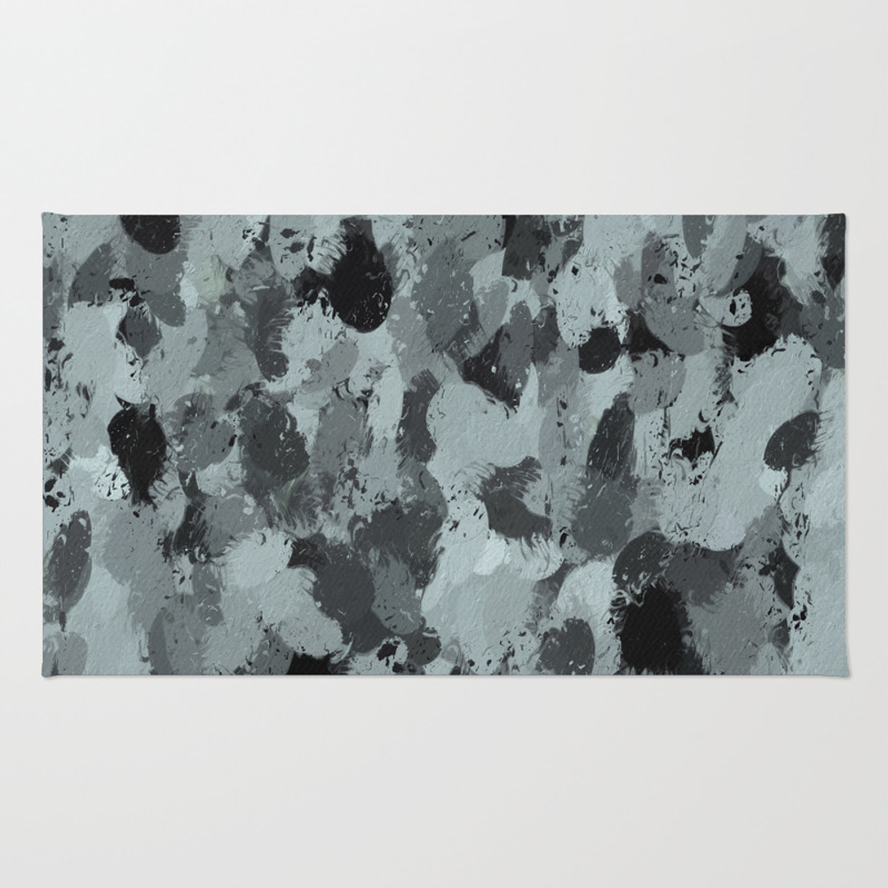 Black And Smokey Blue Pastels 3216 Rug by Celestesheffey RUG7652605