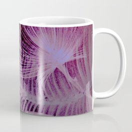 abstract neon tropical palm tree yucca leaves Coffee Mug