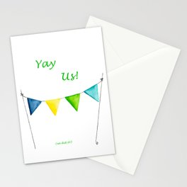 Yay Us! - Tangled Up In Blue Banner Stationery Cards