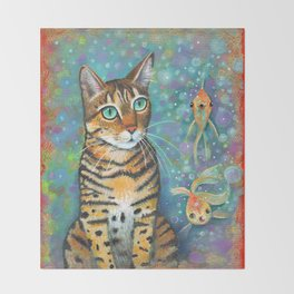 Kitty's Daydream by Robynne Throw Blanket