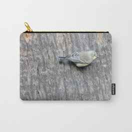 TEXTURES -- Warbler on Palm Bark Carry-All Pouch