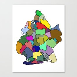 Colorful Brooklyn Canvas Print