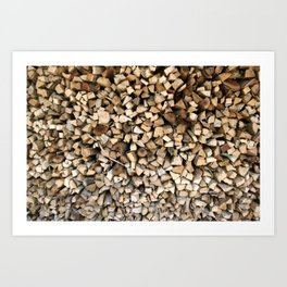Chopped wood Art Print