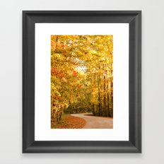 Just Around the Curve Framed Art Print