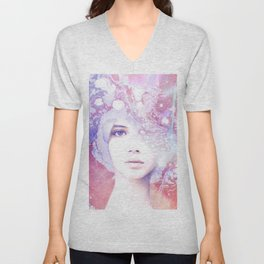 Dream Girl - Marble Portrait Unisex V-Neck