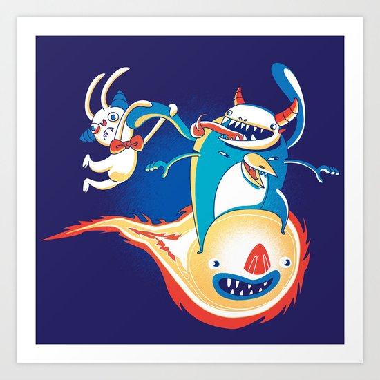 Monsteroid! Art Print