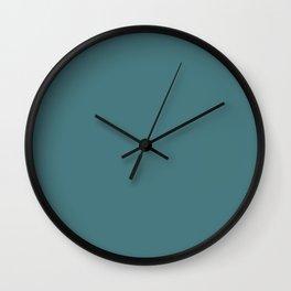 Peony Drama ~ Teal Coordinating Solid Wall Clock