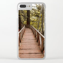 Path at forest Clear iPhone Case
