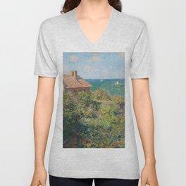 Fisherman's Cottage at Varengeville by Claude Monet Unisex V-Neck