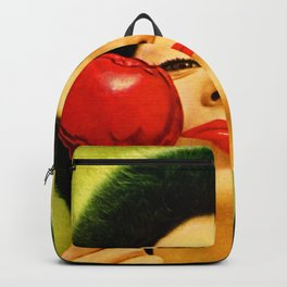 Apple On A Stick by Kathy Morton Stanion Backpack