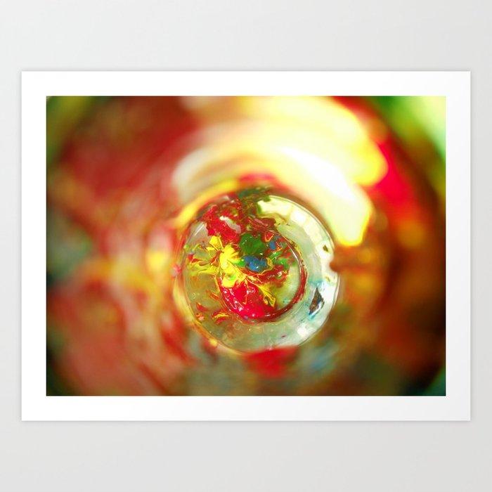 Rainbow Bottle Art Print