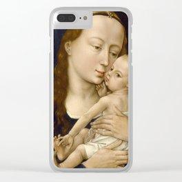 Madonna and Child Rogier van der Weyden Virgin Mary Clear iPhone Case