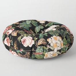 Floral and Butterflies Floor Pillow