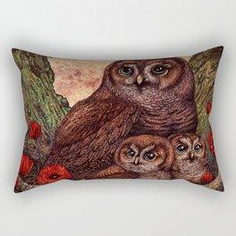 Tawny Owlets Rectangular Pillow