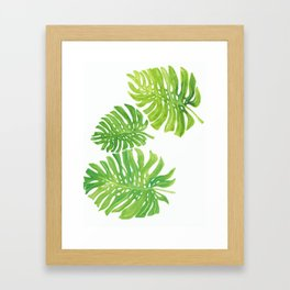 Tropic forest leaves Framed Art Print